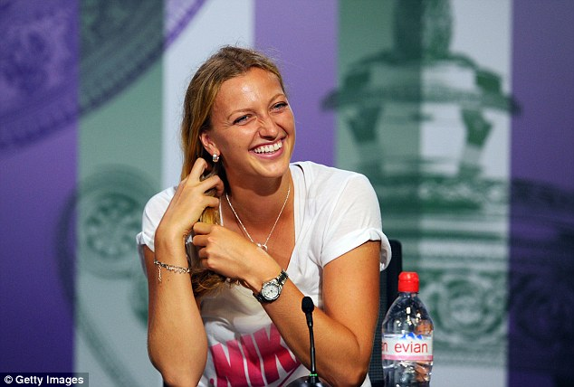Maturity: Kvitova handled being the favourite with aplomb as she dominated the 20-year-old Canadian