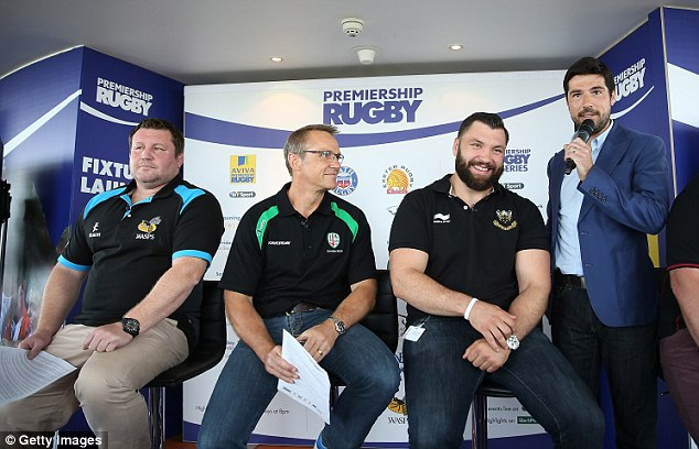 Rested: The Saints prop (second right) took the summer off to ensure his knee is fully healthy