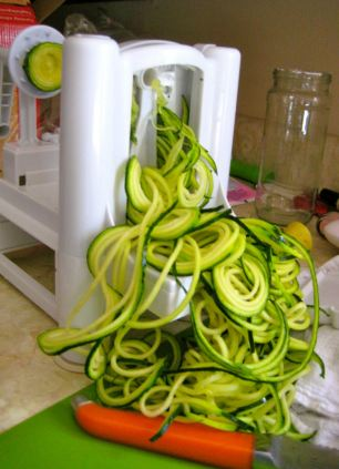 Oodles of noodles: Mandy's first attempt was courgette spaghetti