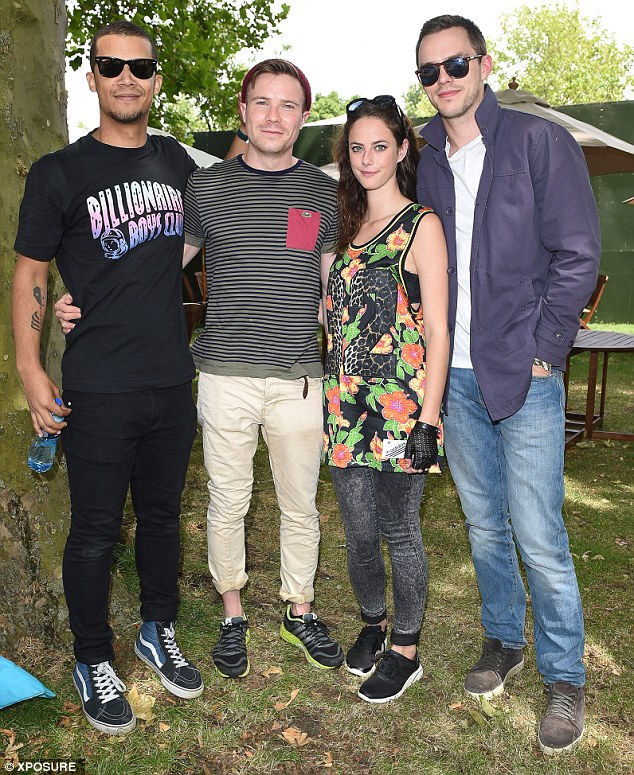 Reunited: Skins stars Nicholas Hoult and Kaya Scodelairo join Joe Dempsie and Jacob Anderson at Wireless Festival