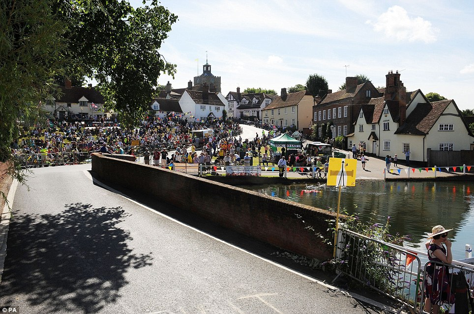 Finchingfield: Chris Froome and Team Sky will be hoping for a drama-free stage three of the Tour de France into London today
