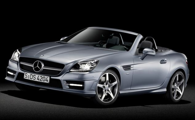 Sales of convertibles have quadrupled in the last 15 years, with the Mercedes SLK (pictured) being the most popular model. More 50-year-old women can now be seen in drop-tops than men