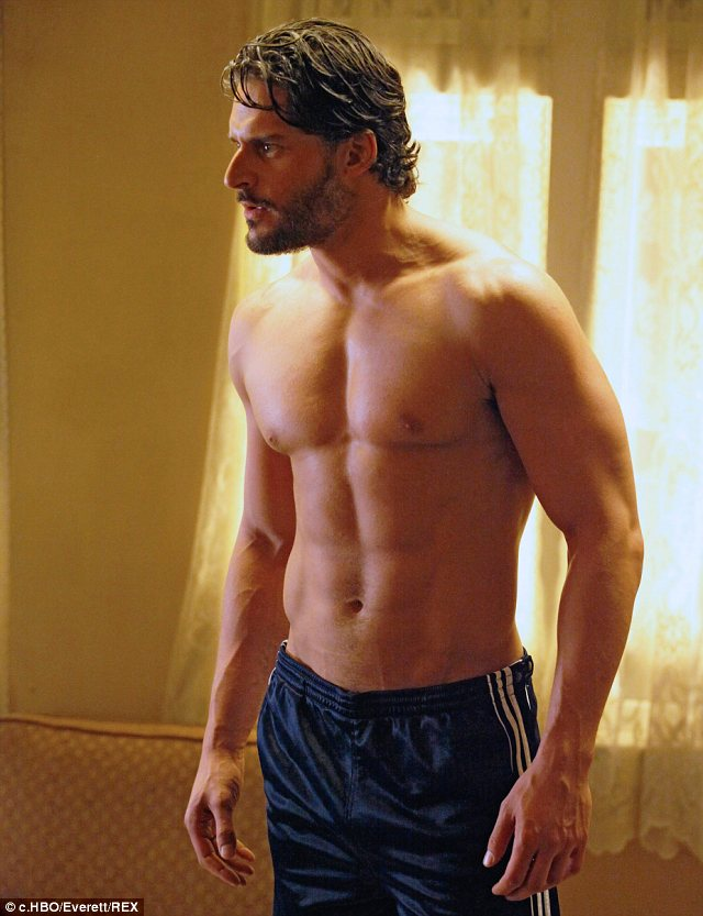 The hunk quota on True Blood has dropped: With the demise of Joe Manganiello's werewolf character Alcide, True Blood fans will have one less beefcake to drool over