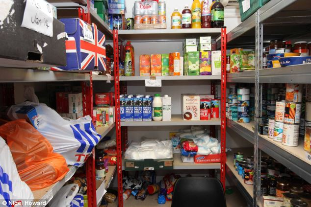 Help: North Wales PCC Winston Roddick said arrested shoplifters would be directed to food banks in the hope that ensuring people were not hungry would reduce the number of thefts