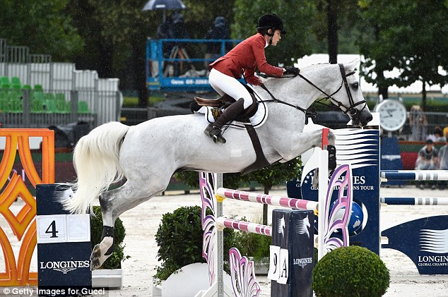 It all started so well! Charlotte Casiraghi and Tintero compete in the jump-off at Paris Eiffel Jumping