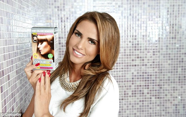 New face: Katie Price has been unveiled as the ambassador for ColourB4, a hair dye removal product, so FEMAIL caught up with her about all things health and beauty