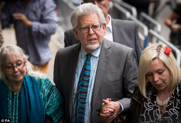 Convicted: Rolf Harris, pictured leaving Southwark Crown Court,was found guilty of 12 sex charges last week