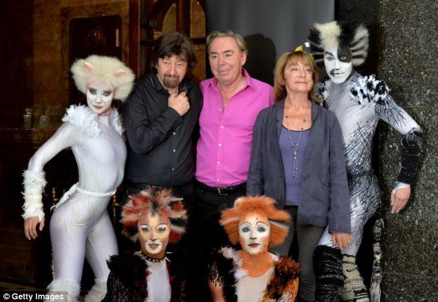 Welcome return: Director Trevor Nunn, composer Andrew Lloyd Webber and choreographer Gillian Lynne will all return for the new production