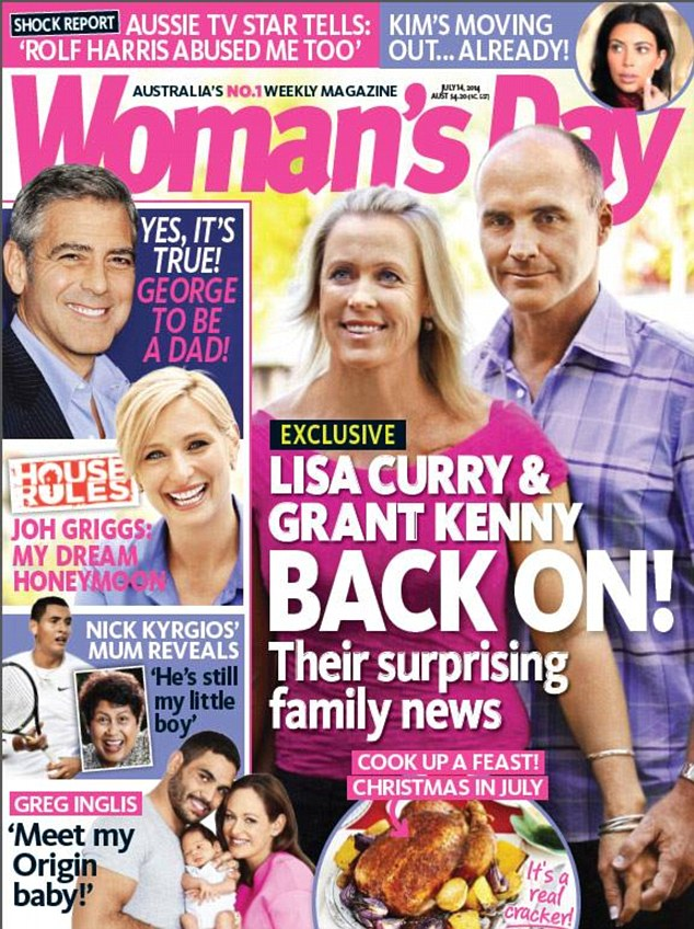 Surprise story: The Woman's Day cover story suggested Grant ad Lisa had rekindled their romance
