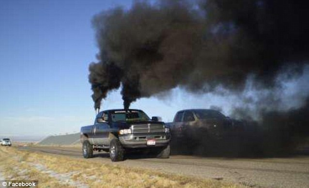 Some in the community modify their trucks with smokestacks to boost their vehicle's smoke-belching capacity