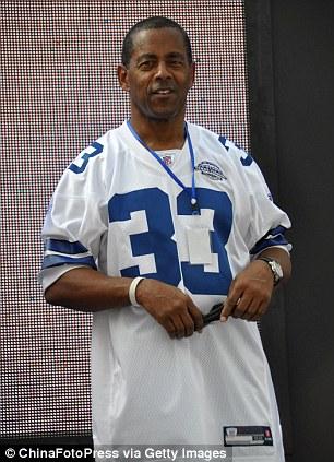 Former Dallas Cowboys star running back Tony Dorsett