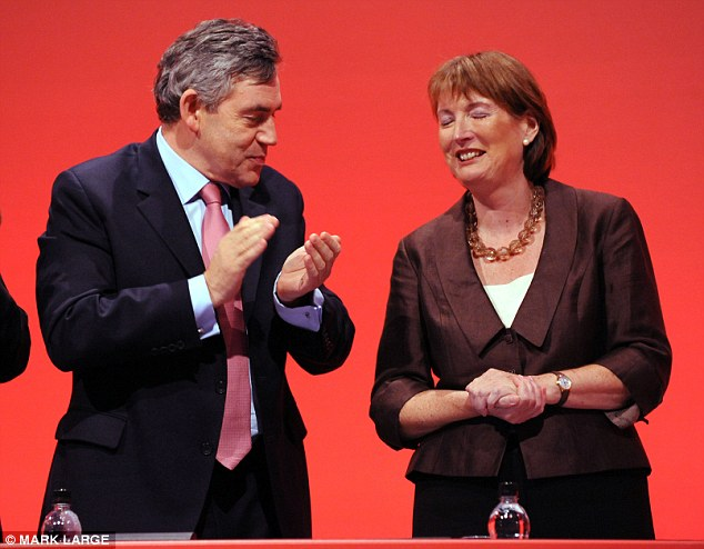 Gordon Brown, pictured at the Labour party conference in 2009, appears to have angered Labour's deputy leader Harriet Harman by not making her Deputy Prime Minister