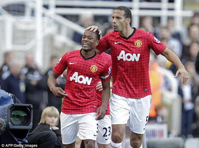 Departed: Patrice Evra (left) and Rio Ferdinand (right) have left Manchester United