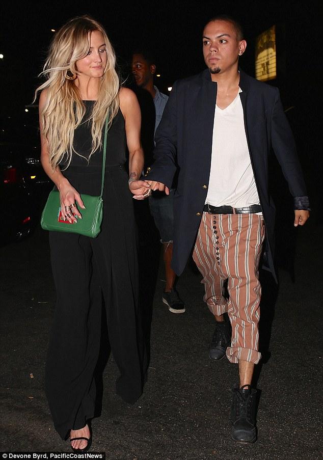 Ashlee Simpson and Evan Ross enjoyed an evening at DBA Nightclub on Sunday evening