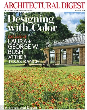 Architectural Digest's August issue has never-before-seen pictures of Laura and George W. Bush's ranch in Crawford, Texas