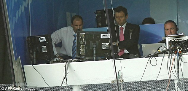 Disregard: Andrew Strauss (left) enjoys taking a pop at the media despite now being part of it