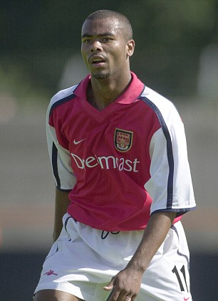 Starting out:  Cole made the breakthrough at Arsenal in 1999