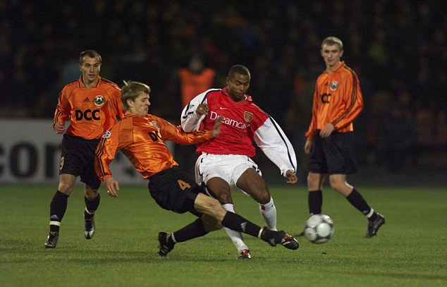 Breaking through: Cole made his Arsenal debut in the late 1990s and played more than 150 times for the club