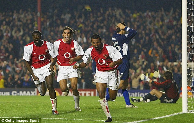 Part of the team: Cole played alongside the likes of Robert Pires and Kolo Toure