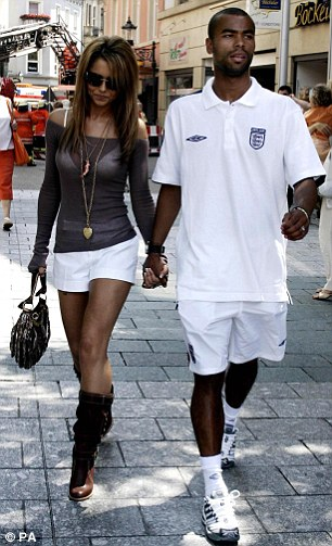 WAGs on tour: Ashley Cole with partner Cheryl Tweedy in Baden-Baden during the 2006 World Cup