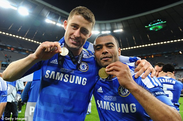The trophy years: Cole won nine trophies in his time at Chelsea, including the Champions League