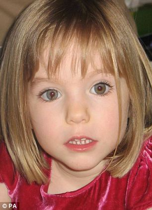 Still missing: Madeleine, who was then nearly four, disappeared from her family's holiday apartment in Praia da Luz in the Algarve on May 3, 2007