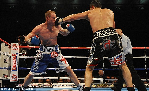 Bouncing back: George Groves will fight Christopher Rebrasse at Wembley in September as he returns to ring after defeat to Carl Froch