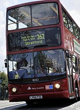 The 262, pictured here, which runs from Stratford to Beckton, was voted the worst night bus in the capital. The 30 - which travels from central London to Hackney Wick was second