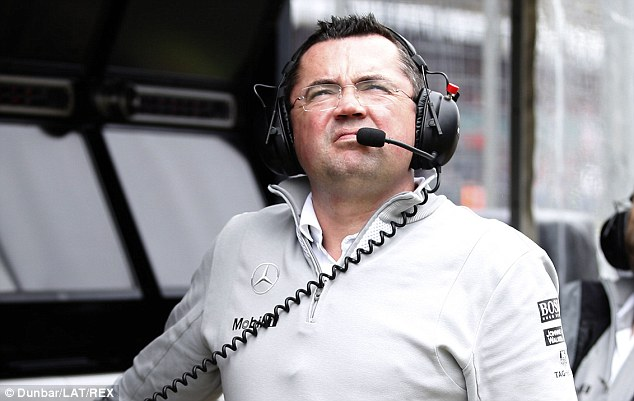 Confident: Eric Boullier insists McLaren are in a good position as they plan for the future