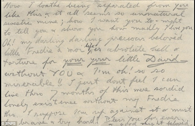 Edward VIII wrote this sickeningly-sweet love letter to his then mistress, Freda Dudley Ward, while he was on a diplomatic trip to Barbados in 1920