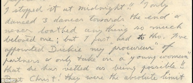 Edward VIII describes in a letter to his mistress Freda Dudley Ward how he 'vetted' the women he danced with in Barbados