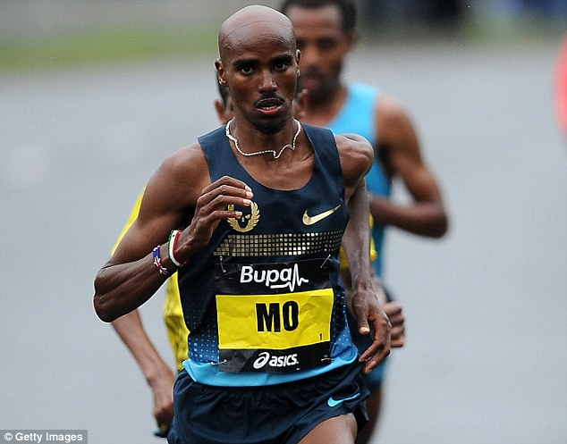 Mo-mentum: Mo Farah has pulled out of this weeks Glasgow Grand Prix after suffering from stomach pains