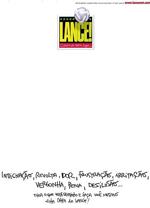 Blank canvas: 'Say what you¿re feeling and write it on this front page of Lance'