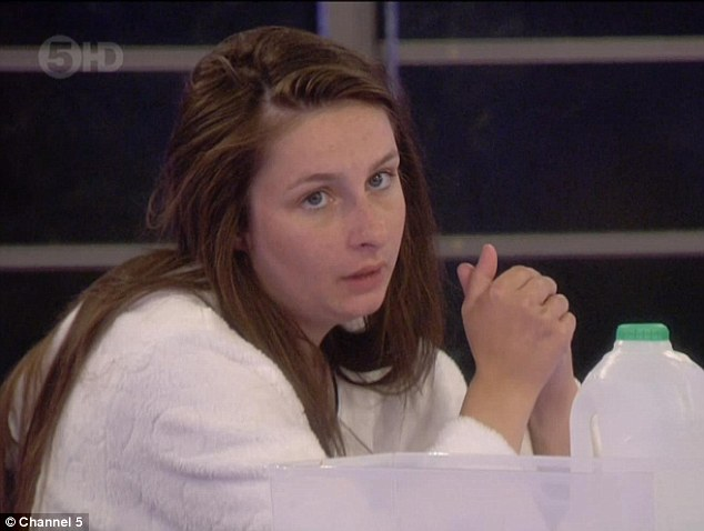 Extending an olive branch: Helen is the only housemate who remains and talks to Marlon