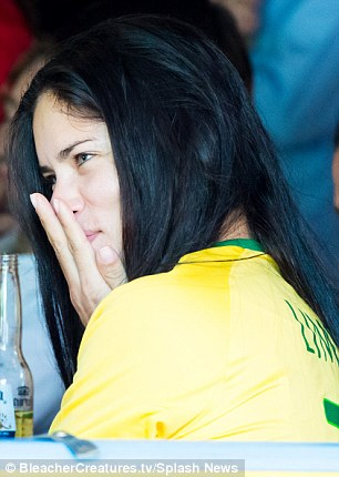 Thrilling! Adriana was a mixed bag of emotions as she cheered on the host nation of this year's World Cup, smiling and even visibly gasping as the tension mounted