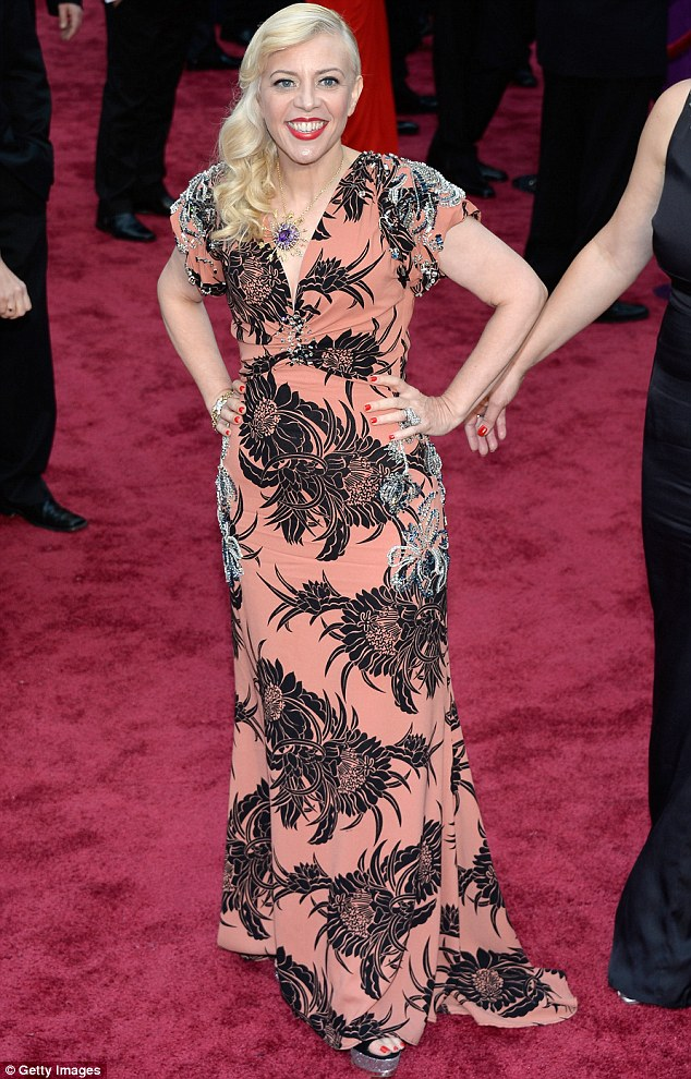 Before: Catherine has chopped her previously longer luscious locks, which she showcased at the Oscars in Hollywood back in March