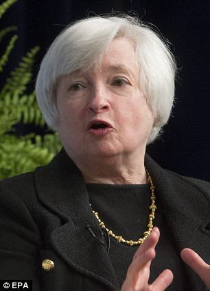 Fed watch: Traders are keen to find out when US rate setters, led by central bank boss Janet Yellen (pictured left), are likely to raise the cost of borrowing