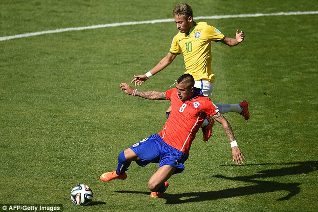 Target: United have made contact with Juventus over a transfer for Chile midfielder Arturo Vidal