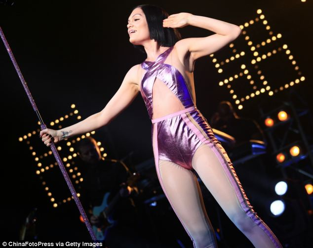 Perfect frame: Jessie's outfit accentuated her fit physique as she delivered an energetic performance