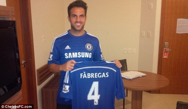 London calling: But Spain midfielder Cesc Fabregas moved to Chelsea, not Arsenal