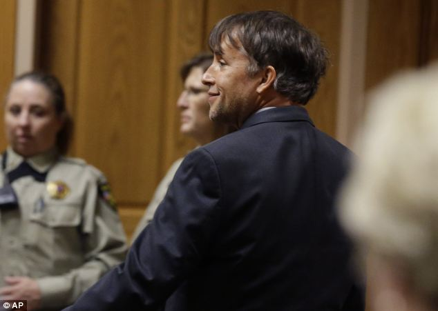 Support: Linklater, pictured in court in May, became friends with Tiede and fought for his early release