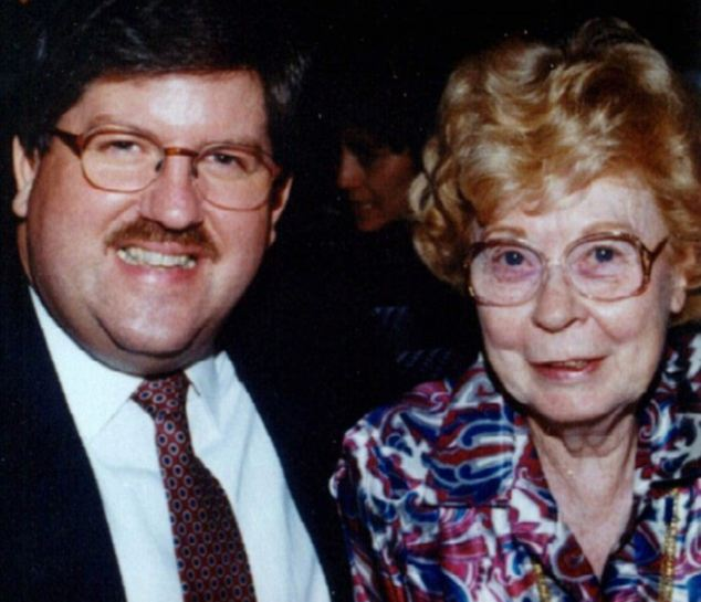Victim: Tiede is pictured with his 81-year-old companion Marjorie Nugent, whom he shot dead in 1996