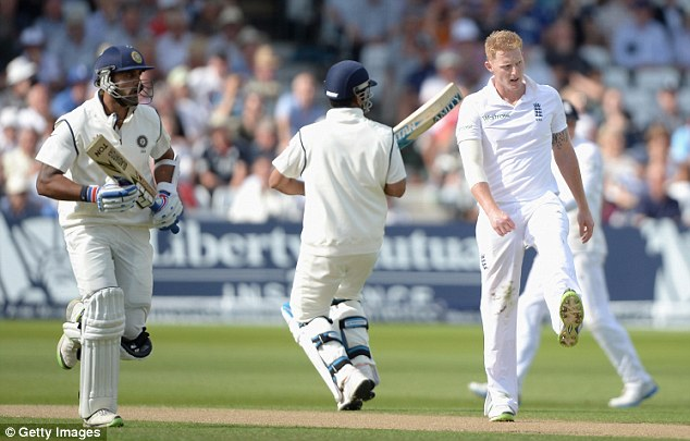 Comeback: Stokes returned to the attack late in the day but flat wickets it could take a toll on England's quicks