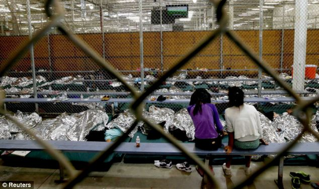 Humanitarian disaster: Young girls and boys are trapped in detention facilities after crossing the U.S.-Mexico border -- tens of thousands have descended on Texas and Arizona since last year