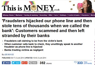 Fraudster hit: Sue Sinclair was phoned by a fraudster and ended up £17.5k out of pocket. Here's our headline from last month