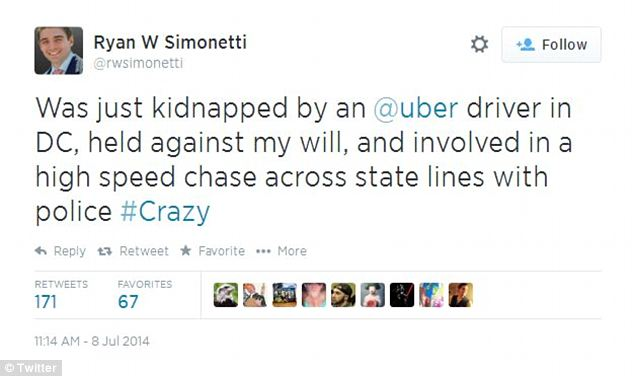 Simonetti got a big response when he tweeted about his experience with the trendy service