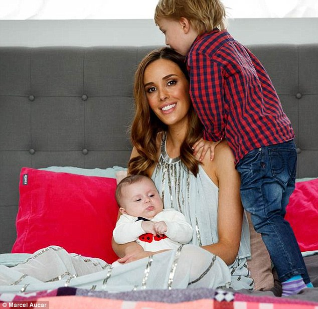 Motherhood: Rebecca Judd told The Grace Tales on Thursday that it can sometimes 'feel sh****' being a new mother