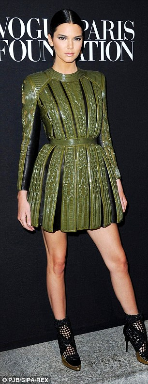 Guests of honour: All eyes were on Kim Kardashian and her statuesque sister Kendall Jenner at the Vogue bash