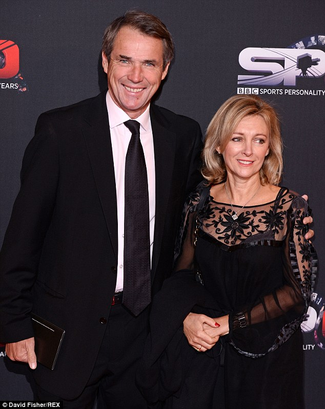 Special night: Hansen with his wife Janet at the BBC Sports Personality of the Year Awards in Leeds last December