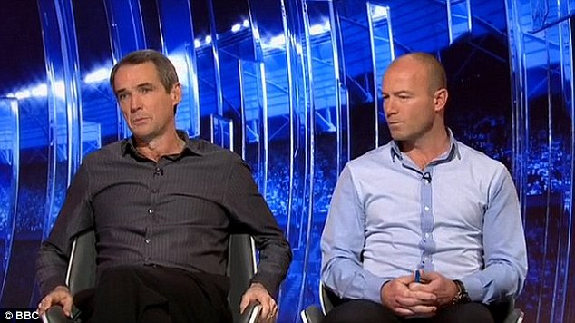 Stalwarts: Alan Hansen and Alan Shearer (right) have become familiar faces on the BBC's iconic Saturday night highlights show Match of the Day